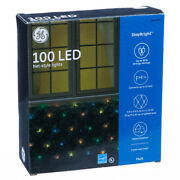 New - 6 Boxes Of Ge 'staybright' 5x4' Feet 100 Led Multicolor Net Lights