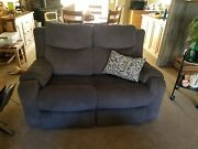 Dark Grey Couch And Love Seat With 4 Electric Recliners 1 1/2 Years Old Exc Con