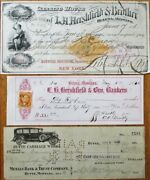 Montana Checks-super Collection 89 Different 1860s-1900s- Helena/butte/pony Mt