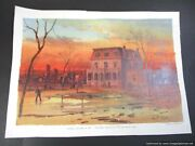Chicago Tribune Lithograph Print Oct 9 1893 Worlds Fair Fire The Only House Left