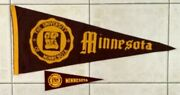 Lot Of 2 Vintage University Minnesota Golden Gophers Pennants And 1960and039s Mini