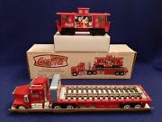K-line Coca Cola Flatbed Truck W/ Train Caboose - By Taylor