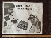 Dale Earnhardt Signed Black And White Drawing Ap Signature Nascar Help Identify