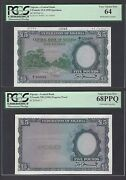Nigeria 2 Notes 5 Pounds Nd 1958 P5p-p5s Specimen And Proof Uncirculated