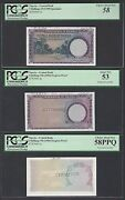 Nigeria 3 Notes 5 Shillings Nd1958 P2p-p2s Specimen-proof About Uncirculated