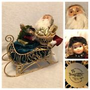 2005 Byers Choice Carolers Chalfont Pa Santa Claus Sleigh Girl Gifts Made In Usa