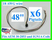 X6 48 Fits Aem 30-2853 Ignition Ign1a Smart Coil Connector Pigtail Plug Harness