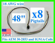 X8 48 Fits Aem 30-2853 Ignition Ign1a Smart Coil Connector Pigtail Plug Harness