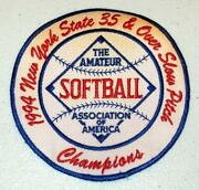 1994 New York State 35 And Over Slow Pitch Association Of America Champions Patch