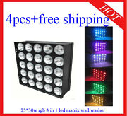 2530w Rgb 3 In 1 Led Matrix Wall Washer Dj Party Stage Light 4pcs Free Shipping