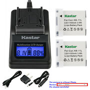 Kastar Battery Lcd Fast Charger For Canon Nb-11l Nb11l Nb-11lh Nb11lh Cb-2ld