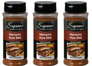 Lot Of 3 Bottles Memphis Style Barbecue Seasoning, 10.5 Oz/each