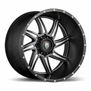 Five 5 24x14 American Truxx Vortex Et -76 Black Milled 5x127 Wheels Rims