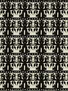 Clarence House Ethnic Chic Totem South Seas Linen Fabric 10 Yards Black