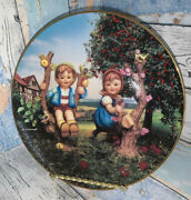 Danbury Mint Hummel Plate Collection Apple Tree Boy And Girl