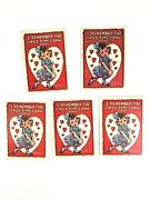 5 - 14 Topps 1959 Tcg Funny Valentines Day Cards 1950s Trading Cards