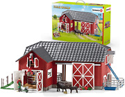 Schleich Farm World Large Toy Barn And Farm Accessories 27-piece Playset For Tod