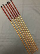 Six Of The Very Best - Classic Dragon Cane Set Of 6 Dragon Canes - Imperial Red