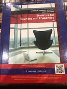 Instructors Edition Statistics For Business And Economics 12e Anderson Sweeney