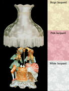 New Capodimonte Lamp And Shade Musical Couple By The Fountain African-american