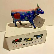 2000 Westland Cows On Parade Figure Big Apple I Love New York 9163 Box And Tag