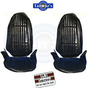 1973-1974 Nova Custom Front And Rear Seat Covers Upholstery Pui New