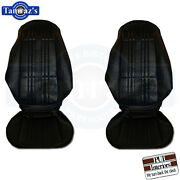 1972 Nova Ss Custom Front And Rear Seat Covers Upholstery Pui New