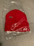 Supreme® X Lacoste Red Cashmere Beanie Cuffed Hat Fw19 Week 5 Drop Sold Out