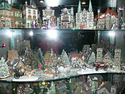 Dept 56 Dickenand039s Village Snow And Christmas In The City Bldgs People Trees Etc