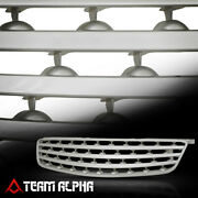 Fits 05-06 Nissan Altima Silver Abs Horizontal Billet Front Bumper Grille/grill