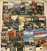 2018-2019 Lot Of 16 Issues - Wing World Motorcycle Magazines