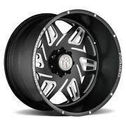 Four 4 22x12 American Truxx Forged Orion Et -44 Matte Black Milled 8x180