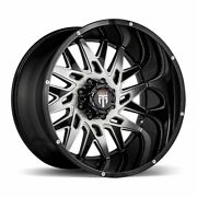 Four 4 24x14 American Truxx Dna Et -76 Black Machine 5x127 Wheels Rims