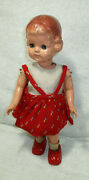 Tin And Celluloid Walking Girl Sleeping Eye Wind-up Doll Vintage Figure