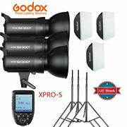 Us Godox Sk300ii 3x 300w 900w Flash Light And Stand Softbox Trigger Kit For Sony