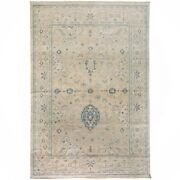 Muted Floral Oushak Turkish Hand-knotted Oriental Area Rug Vegetable Dye 10x14