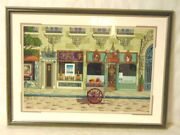 Limited David Farrell French Store Front Russian District Paris Serigraph