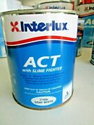 Interlux Marine Paint Act With Slime Fighter 7740b Gray White Quart