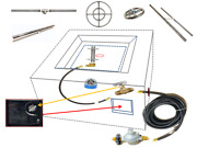 Universal Propane Fire Table Guts Replacement Kit And Lifetime Warranted Burner
