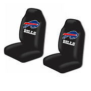 New Northwest Buffalo Bills High Back Seat Covers Universal For Cars Suvs -2 Pc
