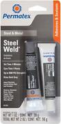 Permatex Steel Weld Epoxy Two Part Adhesive And Filler System Up To 4500 Psi 84209