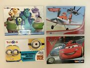 Hollywood Movie Money Cards Toys R Us Lot Of 4 Cars, Planes, Monsters, Minions
