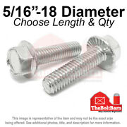 5/16-18 Stainless Steel Serrated Hex Flange Screws Bolts Pick Length And Qty