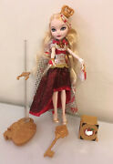 Ever After High Legacy Day Apple White Doll With Accessories By Mattel Euc