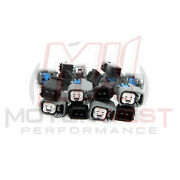 Set Of 8 - Ev6 Female To Honda Obd2 Fuel Injector Connector Adapters