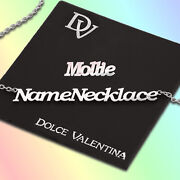 Mollie Named Necklace / Personalised Any Name Pendant Nameplate Chain Gift Uk