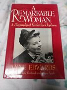A Remarkable Woman Bio. Of Katherine Hepburn. By Anne Edwards1985,hc1st Ed/1st