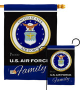 Us Air Force Proudly Family Garden Flag Usaf Military Veteran House Yard Banner