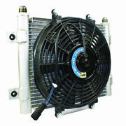 Bd Diesel Xtrude Transmission Cooler With Fan 5.5in 10 Jic Male Connection