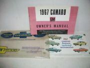 1967 Chevrolet Camaro Owners Manual Canadian Edition